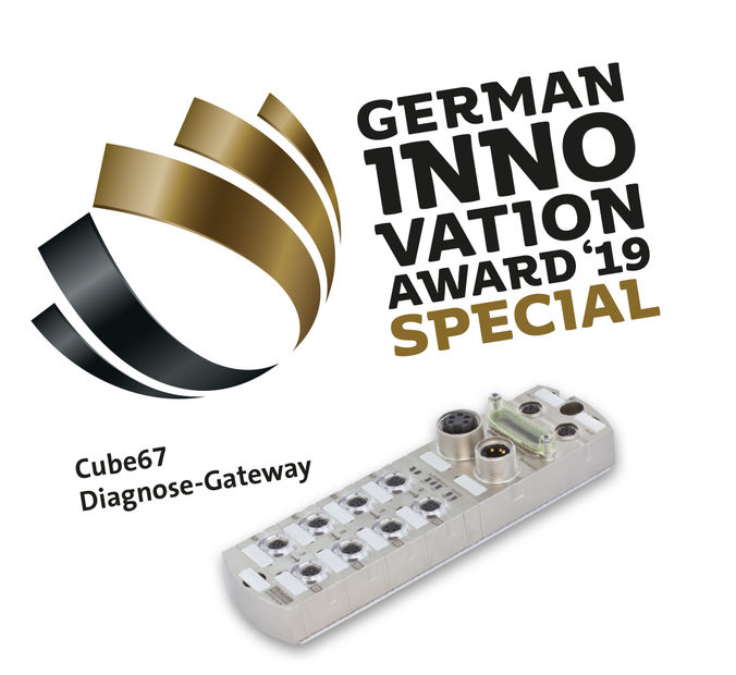 Murrelektronik wins the German Innovation Award 2019 for the Cube67 Diagnostic Gateway